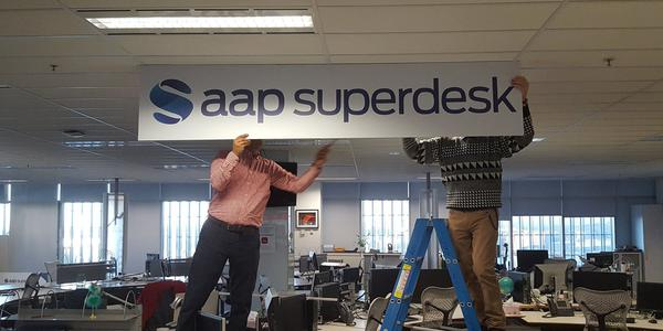 The proverbial curtain comes down on a successful rollout of Superdesk at AAP HQ, late 2016.