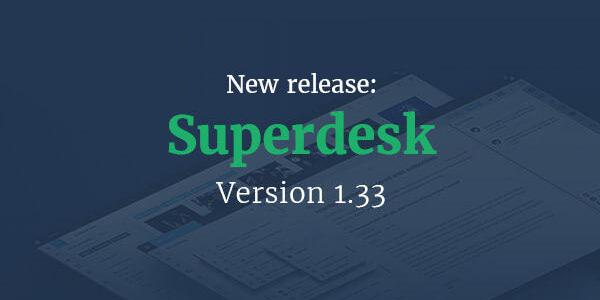 Superdesk version 1.33