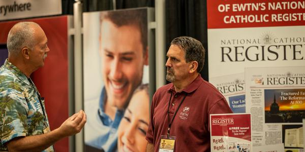 National Catholic Register Managing Editor Tom Wehner at the 2019 EWTN Family Celebration, an annual convention for EWTN readers and viewers. (Photo courtesy of the National Catholic Register)